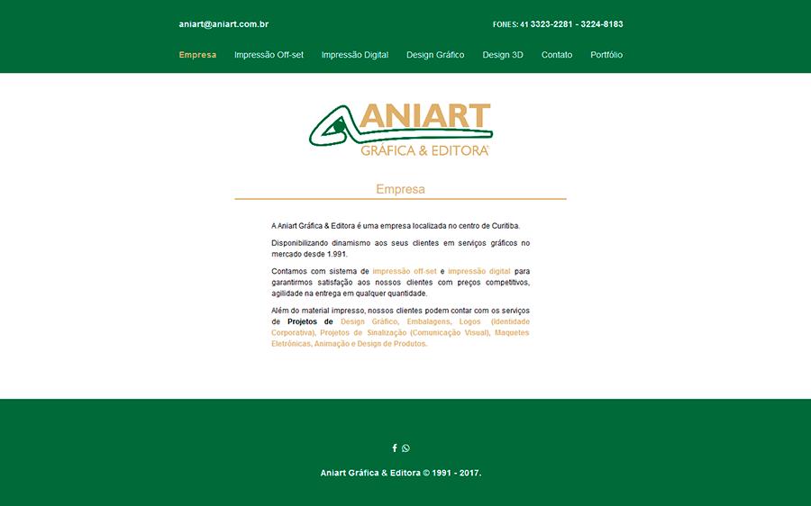 Site desenvolvido através do layout criado pelo cliente.