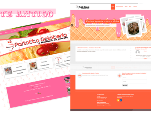 Reformulação do Site Parlatto Gelateria